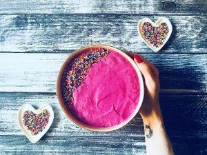 gorgeous pink smoothie bowl
