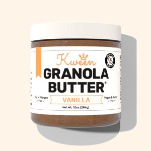 kween granola spread flatlay