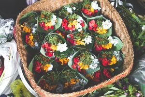 colourful, harvested collection of flowers