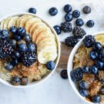 two smoothie bowls