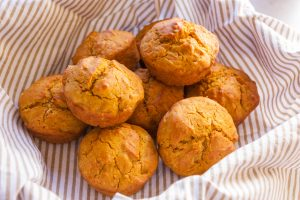 A fresh batch of pumpkin muffins