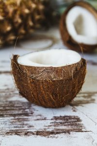 fresh coconut, halved