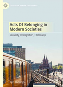 "author's book, screen shot. Titled ""Acts of Belonging in Modern Societies"""